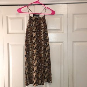 Snakeskin shift dress